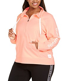 Plus Size Half-Zip Pullover