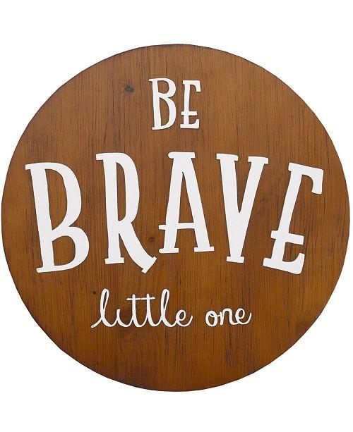 "NoJo NoJo ""Be Brave Little One"" Wood Nursery Wall Décor"