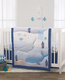 Underwater Adventure Narwhals 3-Piece Crib Bedding Set