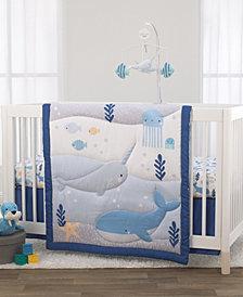 Underwater Adventure Narwhals 3-Piece Crib Bedding Set