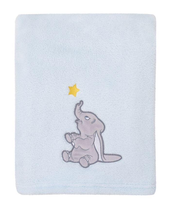 Disney - Disney Dumbo Fleece Baby Blanket with Applique