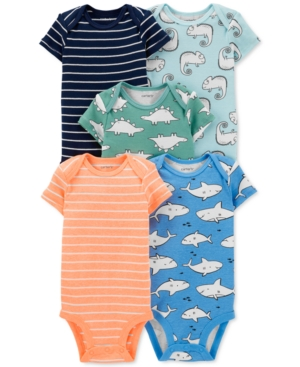 Carter's Baby Boys 5-Pk. Striped & Printed Bodysuits