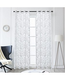 """Tess Embroidery Sheer Curtain, 95"""" L x 54"""" W"""
