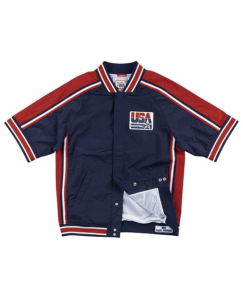 Mitchell & Ness Men's Magic Johnson Team USA Authentic Warm Up Jacket