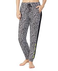 Tuxedo-Stripe Jogger Pajama Pants