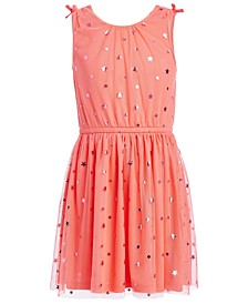 Big Girls Metallic Stars Mesh Dress