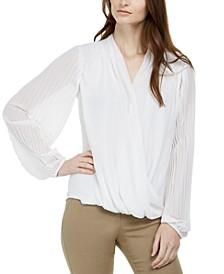 Pleated Surplice Top, Created for Macy's