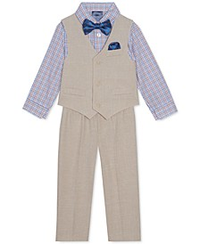 Baby Boys 4-Pc. Faux-Linen Vest Set