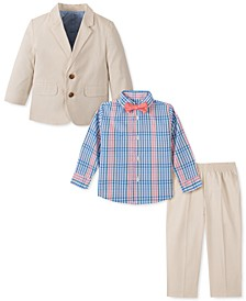 Baby Boys 4-Pc. Fine Twill Suit Set