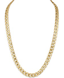 "Men's Cuban Link (11.75mm) 22"" Chain in 14k Gold over Stainless Steel"