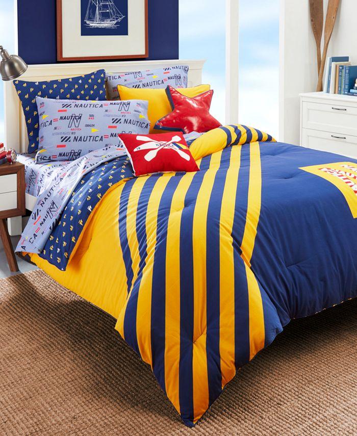 Nautica - Kids Flag Stripe 2-Piece Twin Comforter Set