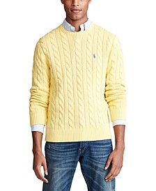 Men's Cable-Knit Cotton Sweater