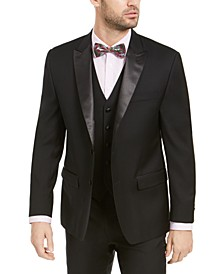 Men's Classic-Fit UltraFlex Stretch Black Peak Lapel Tuxedo Jacket