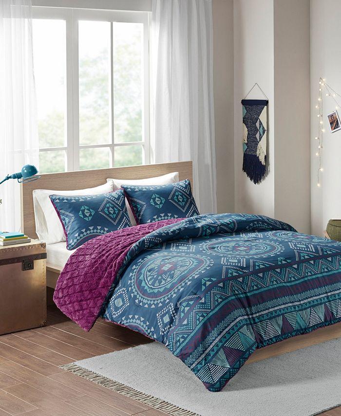 Intelligent Design - Ripley 3-Piece Reversible Full/Queen Comforter Set