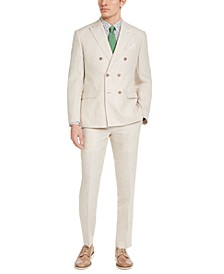 Men's Slim-Fit Tan Linen Suit Separates, Created For Macy's