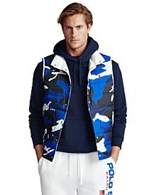 폴로 랄프로렌 Polo Ralph Lauren Mens Reversible Down Vest,Blue Camo