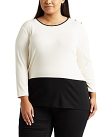 Plus-Size Color-Blocked Sweater