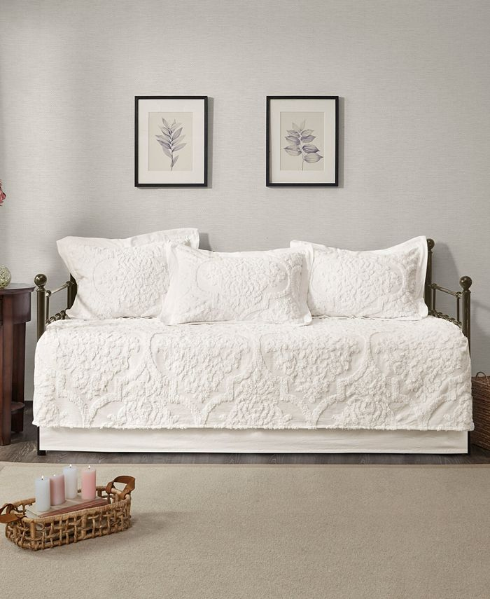 Madison Park - Viola 5 Piece Tufted Cotton Chenille Daybed Set