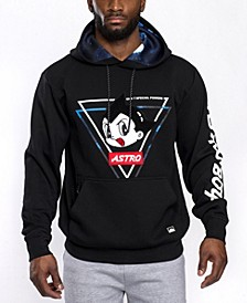 Men's Astroboy Premium Power Fleece Chenille Patch Pullover Hoodie