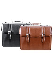 V Series Flournoy Leather Double Compartment Laptop Briefcase Collection