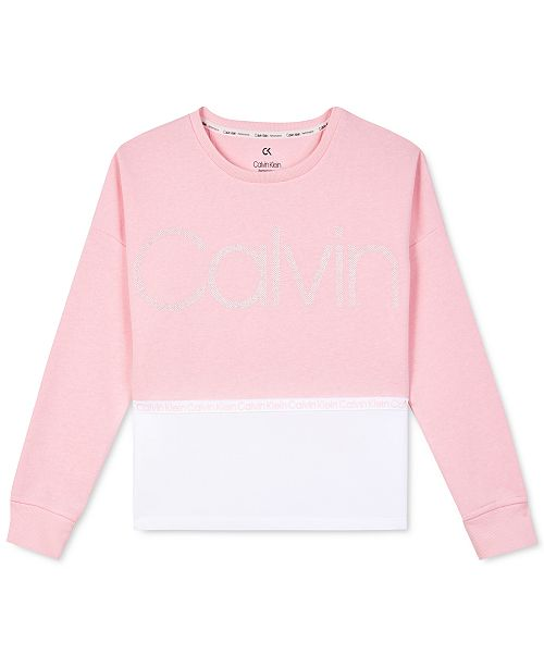 Calvin Klein Calvin Klein Big Girls Performance Colorblocked Sweatshirt
