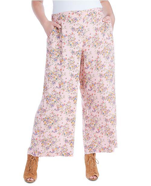 Jessica Simpson Trendy Plus Size Saydee Printed Pull-On Pants