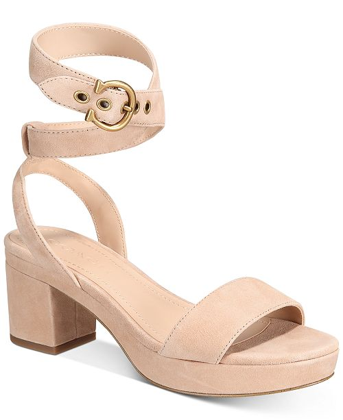 COACH Women's Serena Suede Sandals