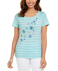 Striped Seashell T-Shirt, Created For Macy's