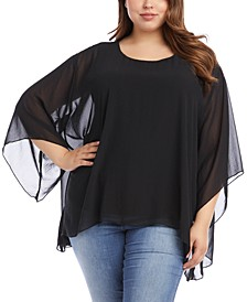 Plus Size Overlay Top