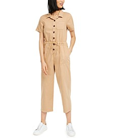 Cotton Drawstring-Waist Jumpsuit