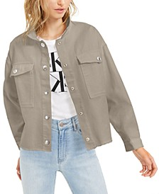 Drop-Shoulder Cotton Denim Jacket