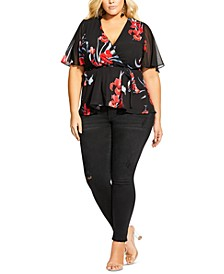 Trendy Plus Size Iris Love Top