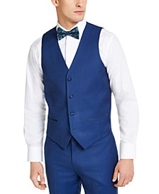 Men's Slim-Fit Stretch Blue Tuxedo Vest, Created for Macy's