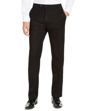 Men's Classic-Fit Stretch Black Tuxedo Pants