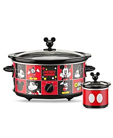 Mickey Mouse 5-Quart Slow Cooker with 20 Ounce Dipper
