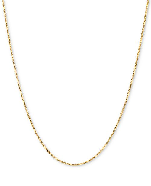 "Italian Gold Wheat Link 20"" Chain Necklace in 14k Gold"