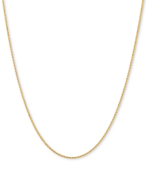 """Wheat Link 20"""" Chain Necklace in 14k Gold"""