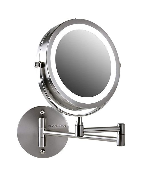 OVENTE Wall Mount LED Lighted Makeup Mirror