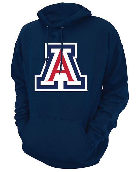 Retro Brand Men's Arizona Wildcats Screenprint Big Logo Hooded Sweatshirt