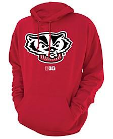 Men's Wisconsin Badgers Screenprint Big Logo Hooded Sweatshirt