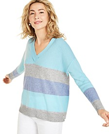 Cashmere Colorblocked Oversized Sweater, Created for Macy's