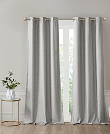 "Como 40"" x 84"" Faux Silk Total Blackout Curtain Set"