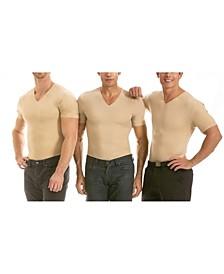 Men's Big & Tall Insta Slim 3 Pack Compression Short Sleeve V-Neck T-Shirts