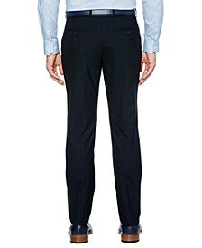 Men's Slim-Fit Performance Stretch Windowpane Dress Pants
