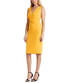 Petite Crepe Surplice Dress
