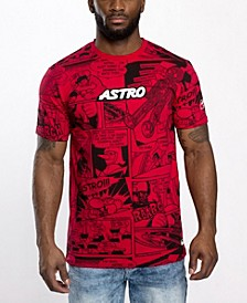 Men's Astroboy Chenille Logo Patch All Over Graphic T-shirt