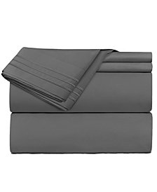 CLARA CLARK Premier 1800 Series 5 Piece Deep Pocket Bed Sheet Set, Split King