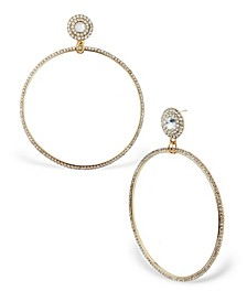 Accessories Oversized Stone Front Facing Hoop Drops