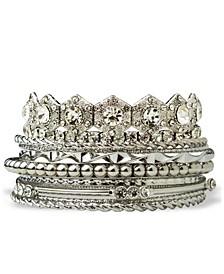 Accessories Retro Stone Bangle Bracelet Set