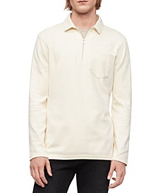 Men's Long-Sleeve Zip Polo